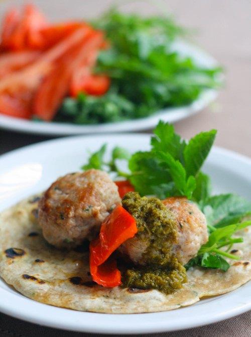 Belgian Journal : Coriander Scented Chicken Kofta Kebabs with Mint ...