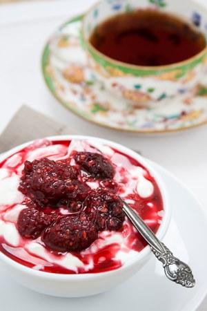 raspberry jam tea