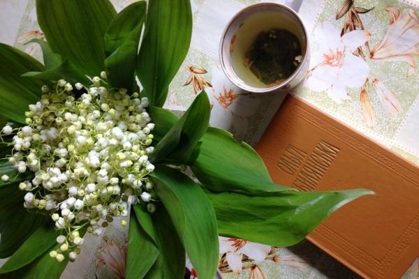 muguet and book
