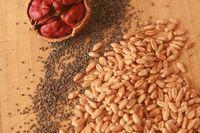 Wheat, walnut and poppyseeds