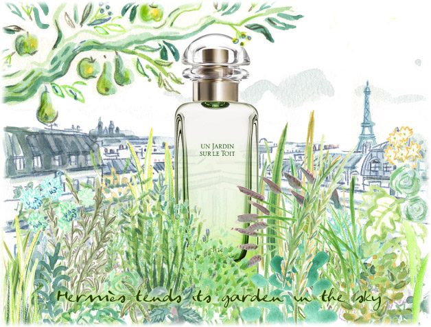 hermes un jardin sur le toit fragrance review bois de jasmin. Black Bedroom Furniture Sets. Home Design Ideas